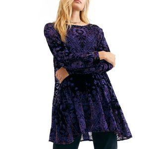 Free People Mirror Mirror Velvet Mini dress
